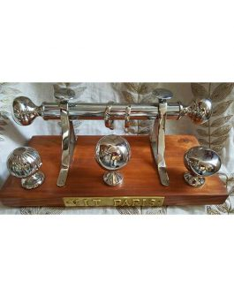 pedestal chrome finials